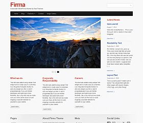 Firma WordPress Theme by BizzThemes