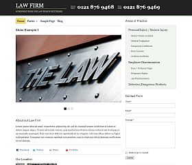 Law Firm WordPress Theme by BizzThemes