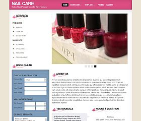 Nail Care Salon WordPress Theme by BizzThemes