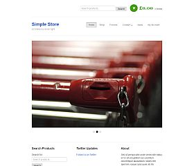 Simple Store WordPress Theme by BizzThemes