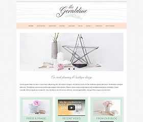Geraldine WordPress Theme by BluChic