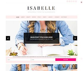 Isabelle WordPress Theme by BluChic