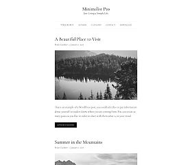 Minimalist Pro Genesis Child Theme for WordPress by Brian Gardner