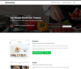 Recipe Themes for WordPress