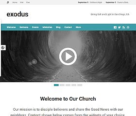 Exodus WordPress Theme by ChurchThemes.com