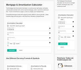 WP Amortization Calculator WordPress Plugin via CodeCanyon