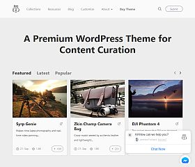 Chipmunk WordPress Theme via Creative Market