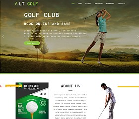 LT Golf WordPress Theme via Creative Market