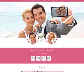 Wedding WordPress Theme via Creative Market