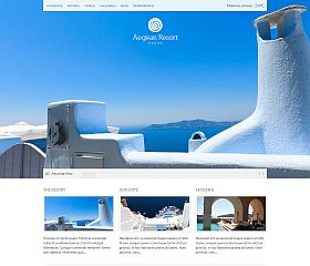 Aegean Resort WordPress Theme by cssigniter