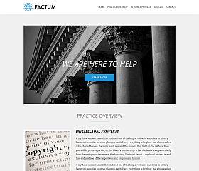 Factum WordPress Theme by cssigniter