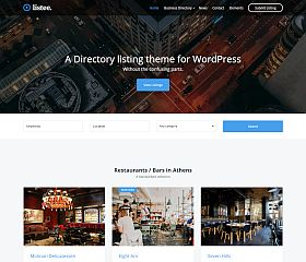 Listee WordPress Theme by cssigniter
