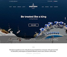 Santorini Resort WordPress Theme by cssigniter