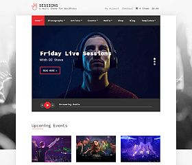 Sessions WordPress Theme by cssigniter