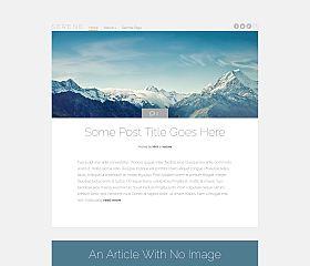 Serene WordPress Theme by Elegant Themes