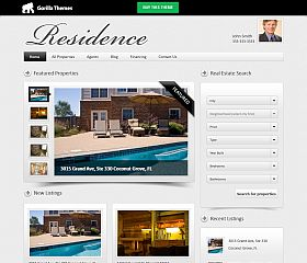 Residence WordPress Theme by Gorilla Themes