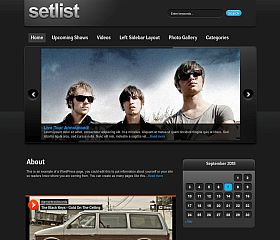 Setlist WordPress Theme by Gorilla Themes