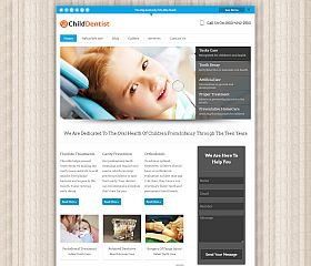 Child Dentist WordPress Theme by InkThemes