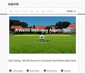 Golfer WordPress Theme via InkThemes