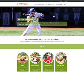 SportBall Baseball WordPress Theme via InkThemes