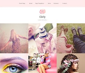 Girly WordPress Theme via MOJO Marketplace
