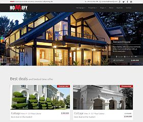 Homefy Website Template via MOJO Marketplace
