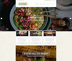 Restaurant WordPress Theme via MOJO Marketplace