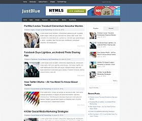 JustBlue WordPress Theme by MyThemeShop