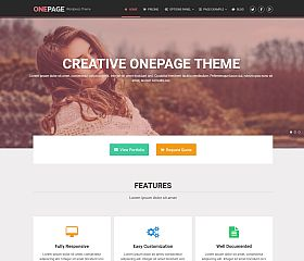 OnePage WordPress Theme by MyThemeShop
