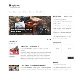 Simpleton WordPress Theme by MyThemeShop