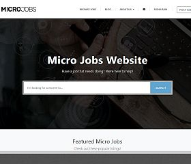 Micro Jobs WordPress Theme by PremiumPress