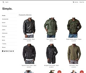 Simple (Light) Template for Shopify