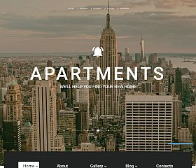 Apartments Website Template by TemplateMonster