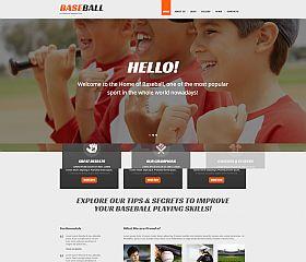 Baseball Responsive WordPress Theme by TemplateMonster