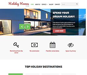 Holiday Homes for Rent Website Template by TemplateMonster