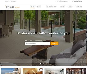 INTENSE Real Estate Website Template by TemplateMonster