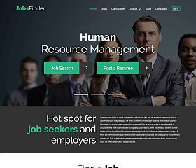 JobsFinder WordPress Theme by TemplateMonster