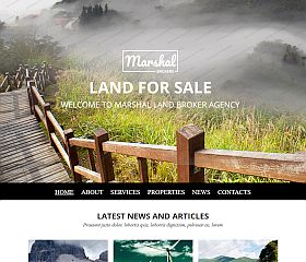 Land Brokers Website Template by TemplateMonster
