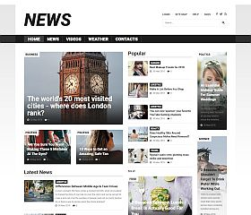 News Portal Joomla Template by TemplateMonster