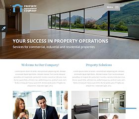 Property Management Website Template by TemplateMonster