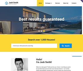Real Estate Agency Responsive Website Template by TemplateMonster