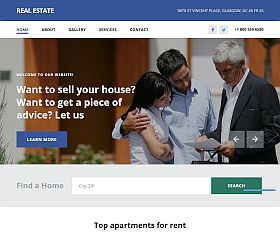 Real Estate Agency Website Template by TemplateMonster