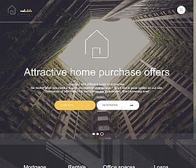 Real Estate Website Template by TemplateMonster
