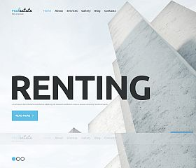 Renting WordPress Theme by TemplateMonster