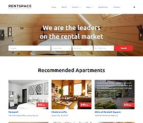 RentSpace Website Template by TemplateMonster