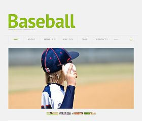 Responsive Baseball WordPress Theme by TemplateMonster