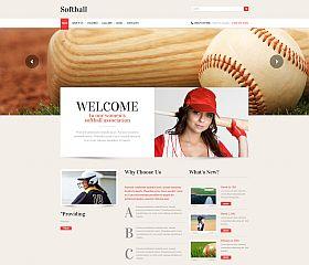Softball WordPress Theme by TemplateMonster