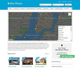 GeoPlaces WordPress Theme by Templatic