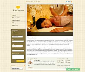 Spa Salon WordPress Theme by Templatic