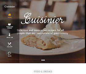 Cuisinier WordPress Theme by TeslaThemes